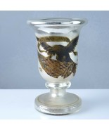 Rare 1876 Centennial Exposition Philadelphia Mercury Glass Goblet with Eagle - $247.78