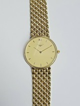 Longines 18K Yellow Gold Wristwatch. Men's 18K Gold Watch. Original Link Band. - $3,341.25