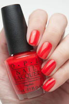OPI Gwen Holiday ~FASHION A BOW~ Bright Red Orange Nail Polish Lacquer H... - €6,26 EUR