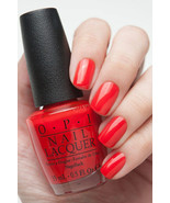 OPI Gwen Holiday ~FASHION A BOW~ Bright Red Orange Nail Polish Lacquer H... - $6.91