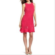 Women's Lilly Pulitzer Molly Hot Pink Harbor Crochet Dress sz M - $86.04