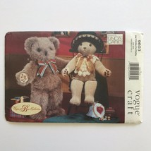 Vogue Craft Pattern 9603 Vogue Bear Collection Linda Carr Mr and Mrs Bea... - $14.80