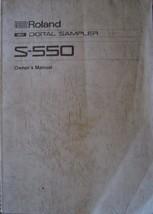 Roland S-550 Digital Sampler Midi Module Original Vintage Owner's User's... - $39.55