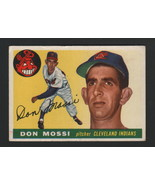 1955 Topps Baseball - DON MOSSI - #85, CLEVELAND INDIANS, ROOKIE - $15.83