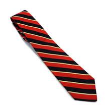 "Robert Talbott Nordstrom MEN Neck Tie Black AND RED STRIPED 56"" LONG 3.2... - $21.37"
