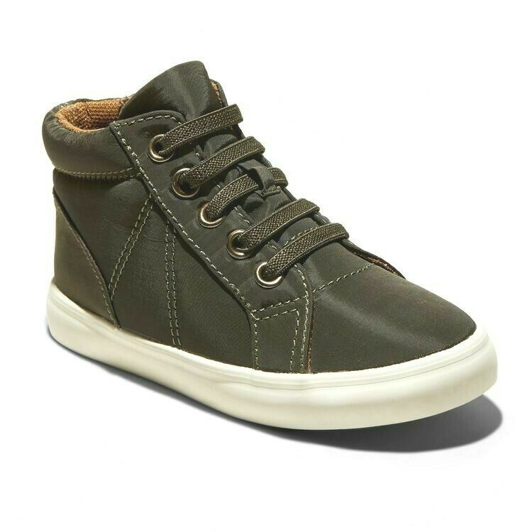 Cat & Jack Toddler Boys Olive Ford Hi-Top Zip-On Sneakers NWT