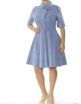 NWT DKNY Women's Cuff Sleeves Striped Shirt Dress  Size 6  - $40.47
