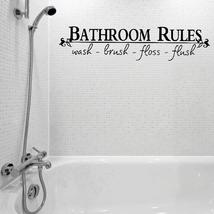 Vinyl Bathroom Rules Letter Sticker Bathroom Toilet Art Wall Decals - $14.79