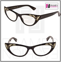 0acf0252f GUCCI 0089 Black Mother Of Pearl Thin Grey Cat Eye Sunglasses Optical fr.