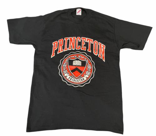 NEW Vintage Black Princeton University T-Shirt Jerzees Made in USA Ivy League L