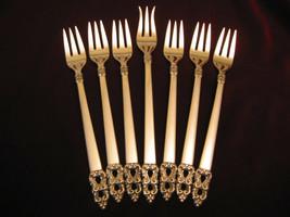 King Frederik Royal Empress Silverplate Cocktail Fork Set Intl Flatware ... - $49.49