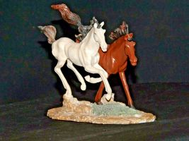 Brown and white Horse figurine AA19-1691 Vintage image 4