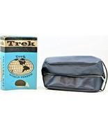 Vintage Trek Travel Kit DuPont Nylon With Zipper Item T-13 Dark Navy Blu... - $19.79