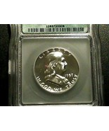 1957 Silver Proof Franklin Half Dollar ICG PR68 - $73.83