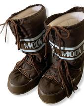 Vintage Tecnica Moon Boot the Original Black Snow Boots  Size EU 35-38 US 5 - $74.79