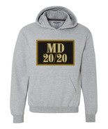 MD 20 20 wine Hoodie retro vintage style distressed print grey graphic tee shirt - $39.99