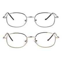 Mens Classic Metal Rim Rectangular Bifocal Reading Eye Glasses - $12.95