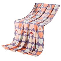 Love Heart Shape Baby Air Conditioning Coral Carpet Infant Towel Blanket image 2