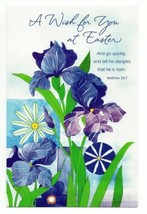 A Wish for You at Easter Day Vintage Spring Time Greeting Card Holiday Gift - $10.57