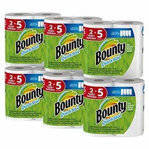 Bounty Quick-Size Paper Towels, White, Family Rolls, 12 Count Equal to 30 Regula