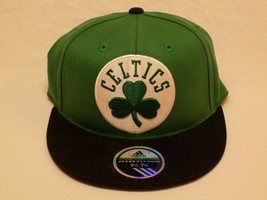 New NBA Boston Celtics Adidas Flat Brim 210 Fitted Hat Ball Cap 6 7/8-7 ... - $24.99