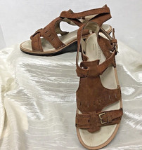 Merrell Sandals Select Fresh Sirah Cloak Wedge Prairie Brown Leather Wom... - $39.15