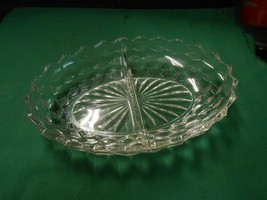 "Great Collectible FOSTORIA AMERICAN Oval DIVIDED DISH 9.75"" x 7"" x 2"" - $12.46"