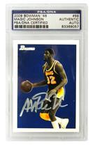 Magic Johnson Signed Los Angeles Lakers 2009 Bowman Trading Card #88 - (... - $125.00