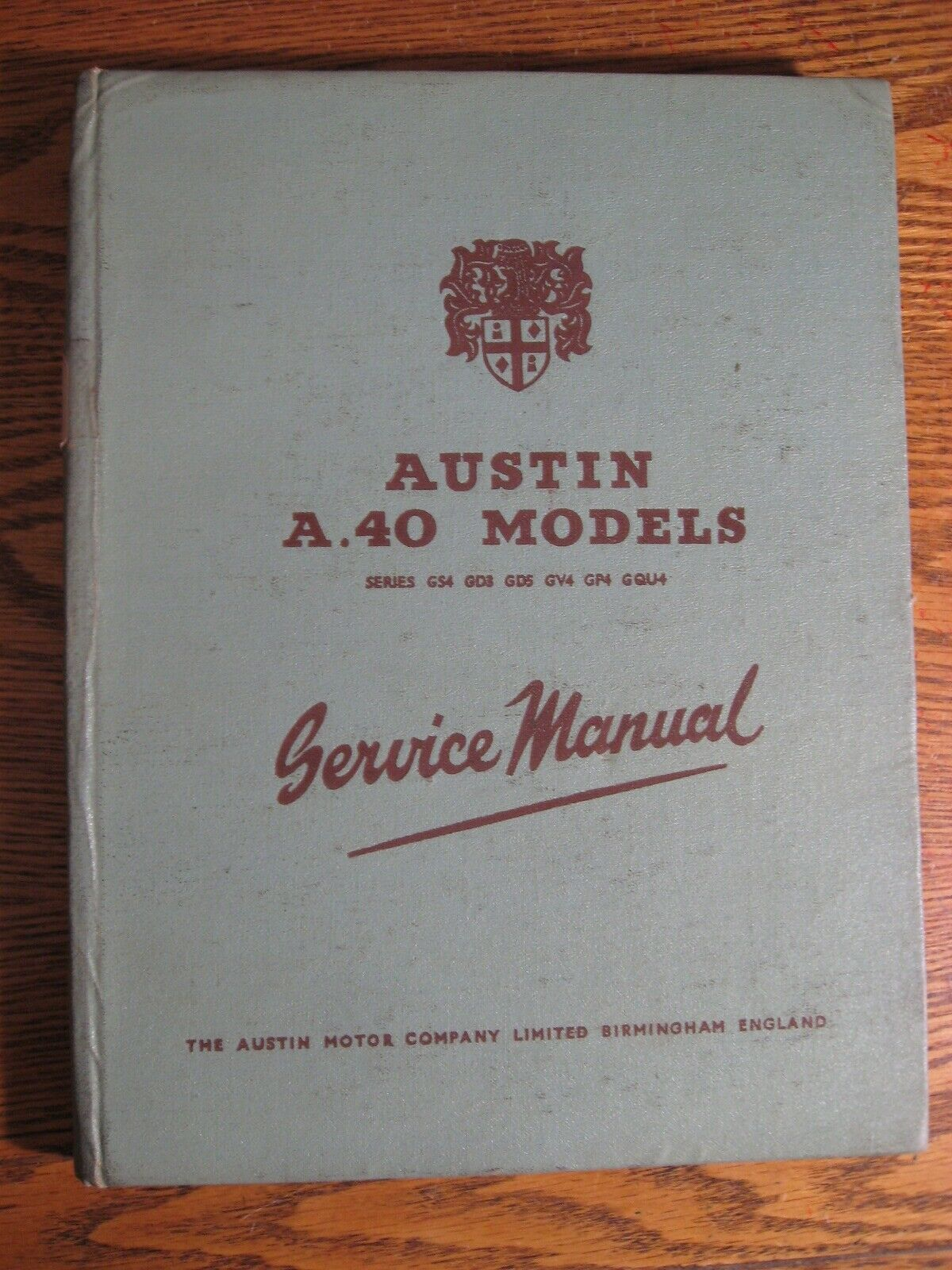 1953 Austin A40 Models Service Manual, Hardcover Original
