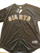 San Francisco Giants MLB Majestic stitched jersey Black and Orange Men's... - $84.55
