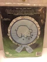 Pig Chicken Scratch Kit Simple Cross Stitch Embroidery 3001 Valiant Blue Checks - $5.89