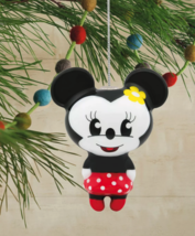 Hallmark Disney Minnie Mouse Decoupage Christmas Ornament New with Tag image 4