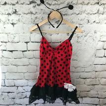 Coqueto Ladybug Mujer TALLA S (4-6) Disfraz Halloween Lunares Vestido Con / - $22.76
