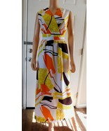 Vintage Long Dress Gown Lanie J sz M L California Bohemian 1970s - $48.00