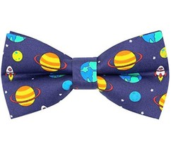 OCIA Cotton Cute Pattern Pre-tied Bow Tie Adjustable Bowties for Mens & Boys Spa