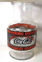 Godfather's Pizza carafe stained glass design  Coca Cola Coke 48 oz 1980... - $16.93