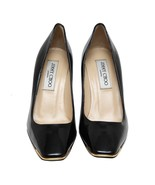 Auth JIMMY CHOO Black Patent Leather Solid Pumps Size 36 US 6 UK 3 MSRP ... - $182.33