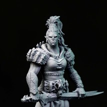 Orc - Warrior - Woman - 3D - Printed HQ - Resin Miniature - Unpainted - Dungeons - $14.99