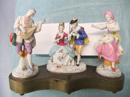 Vintage Beck Music Box Melodie Charm - With Porcelain Figurines by Beck ... - $95.00