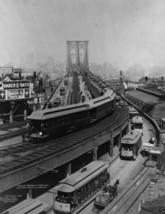 New 8x10 Photo - Train on elevated platform leaving Brooklyn Bridge 1898... - $7.05