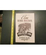 Elm Bark Beetles 1939 Farming US Department Agriculture Brochure - $10.99