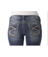 SIVLER Jeans Sale Buckle Low Rise Embellished Lola Stretch Denim Jean Sh... - $39.97