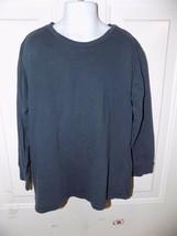 J. Crew Crewcuts Navy Blue Long Sleeve T-Shirt Size 6/7 Boy's EUC - $14.82