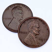 Lot of 2 Lincoln Cents (1916-S and 1917-S), XF Condition, All Brown Color - $29.69
