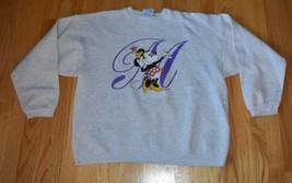 VTG 1990s Minnie Mouse M Gray Sweatshirt Crewneck Hanes L - $26.00