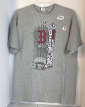 Official MLB Boston Red Sox 2013 World Series Champions T-Shirt L Gray D... - $11.87