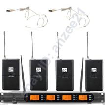 High-Class 4 Beige Mini Headset Wireless Digital Microphone System Clear... - $432.63
