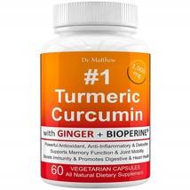 Turmeric Curcumin with BioPerine Black Pepper and Ginger 15X High Potenc... - $96.99