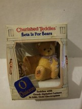 "Cherished Teddies- Beta Is For Bears "" O Omicrom"" - $4.90"