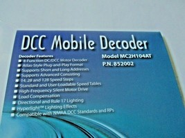 Soundtraxx 852002 MC2H104AT DCC Mobile Decoder 4 Function Atlas, Ath, Kato Style image 2
